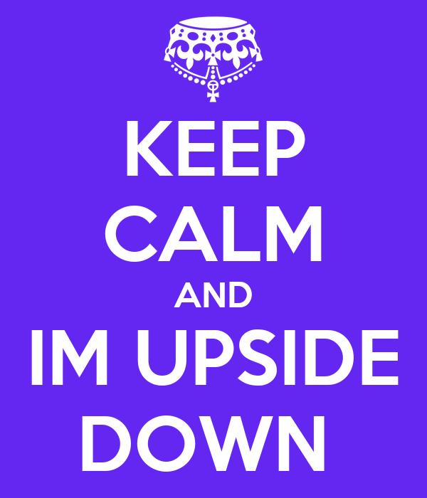upside down writing