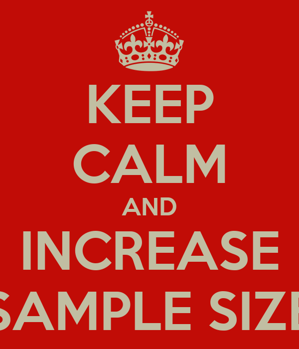 KEEP CALM AND INCREASE SAMPLE SIZE Poster | Aaron | Keep Calm-o-Matic