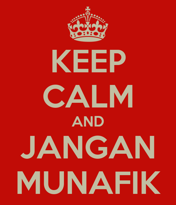 Image result for jangan munafik