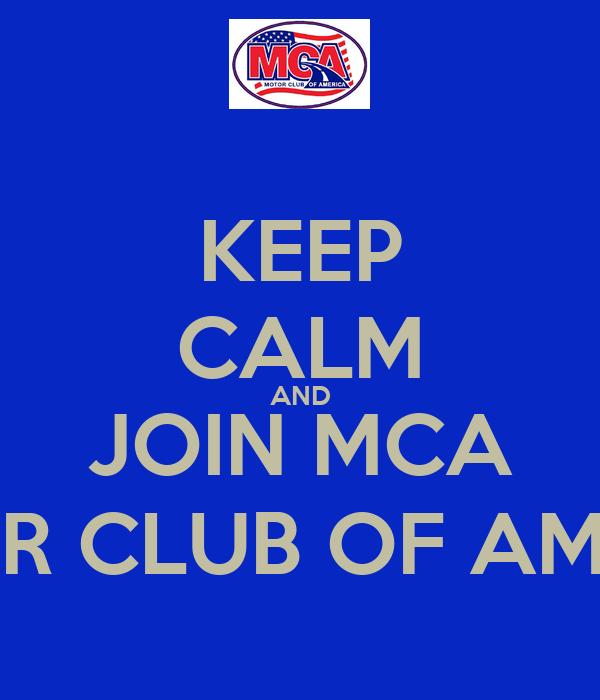 Keep Calm And Join Mca Motor Club Of America Keep Calm