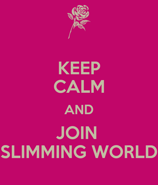Keep Calm And Join Slimming World Poster Donna Shore