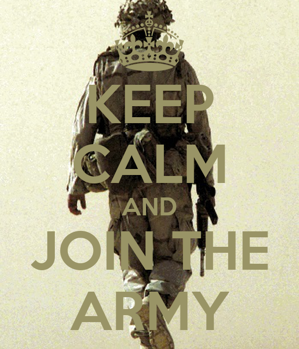 essay on why to join the army