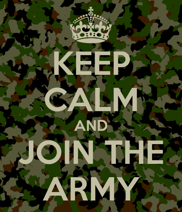 why did you join the army essay Deciding to join the military should require some internal discussion and finding your why ask yourself why you want to join the military do you want to serve your country.