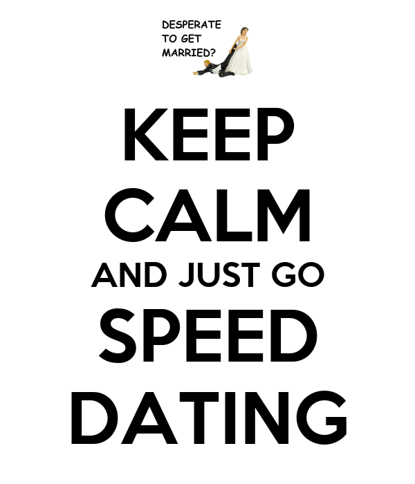 can you go speed dating alone