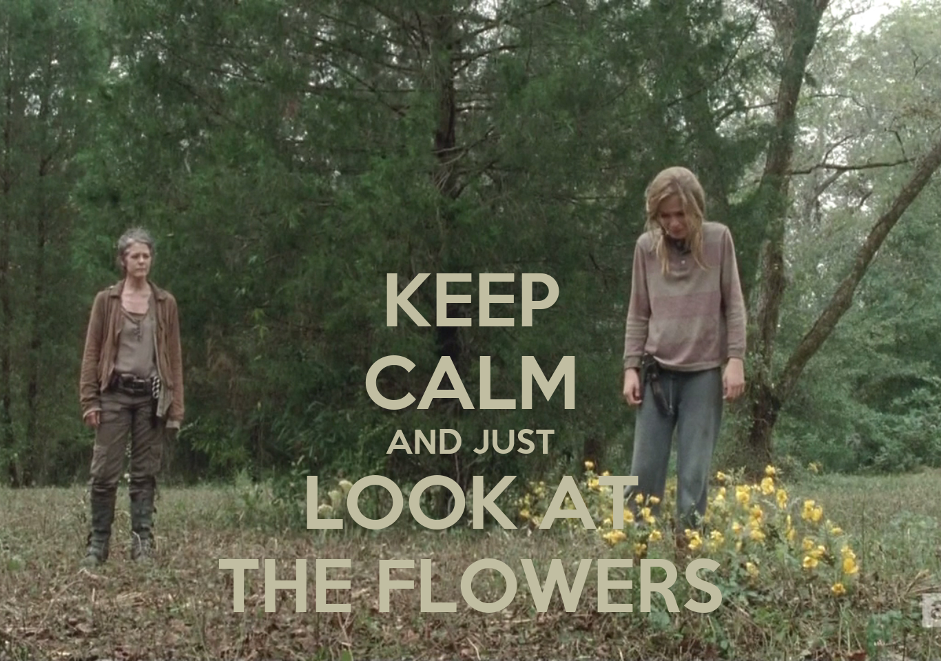KEEP CALM AND JUST LOOK AT THE FLOWERS Poster Joana Freitas