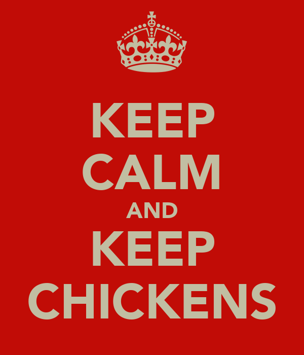 KEEP CALM AND KEEP CHICKENS