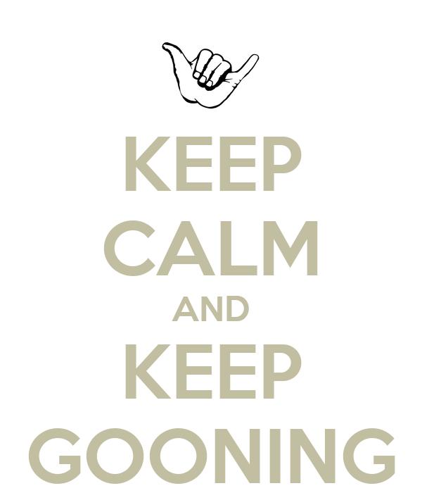 gooning
