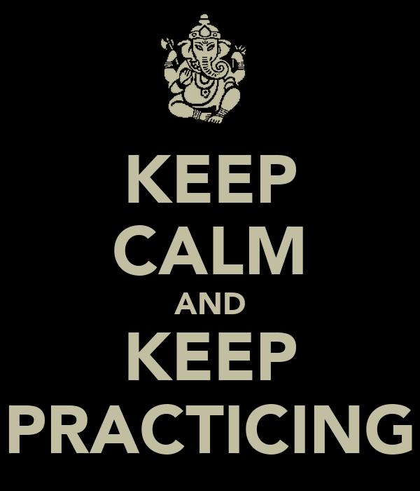 Keep calm practicing juggling
