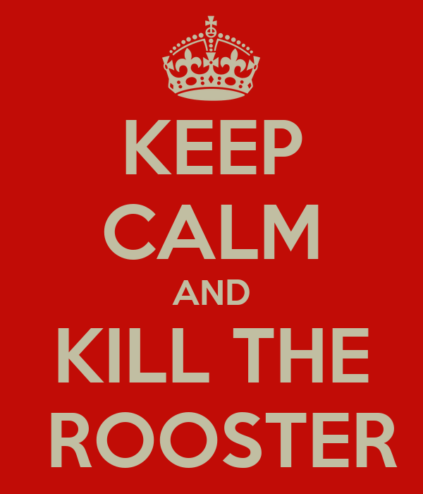 Rooster Kills Keep Calm And Kill The Rooster
