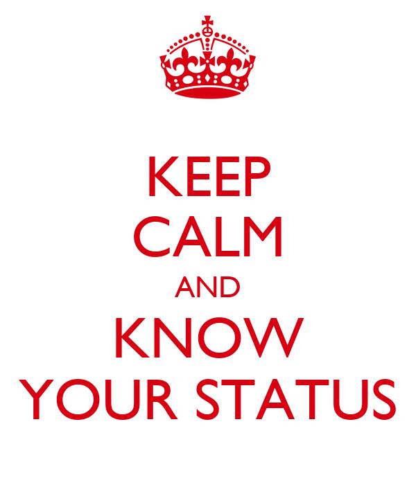 knowing status