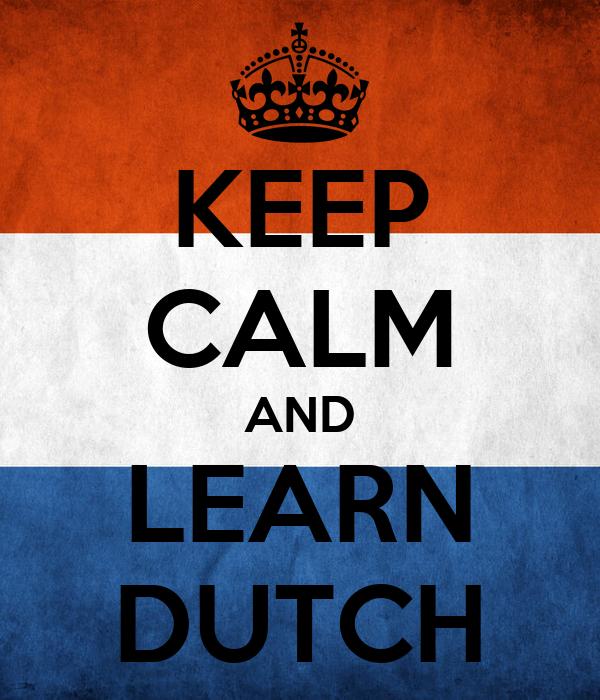 how to speak dutch language