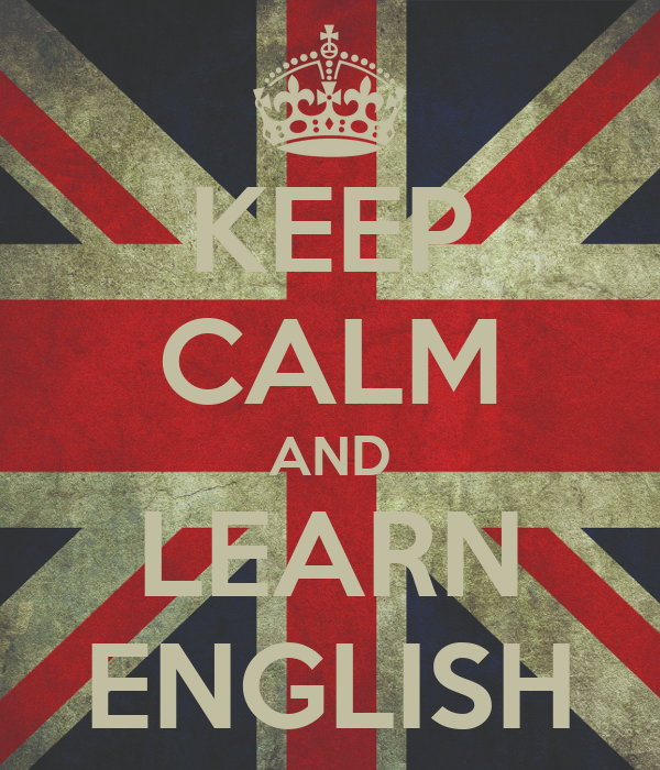 Keep calm and learn english