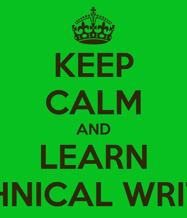 Learn technical writing
