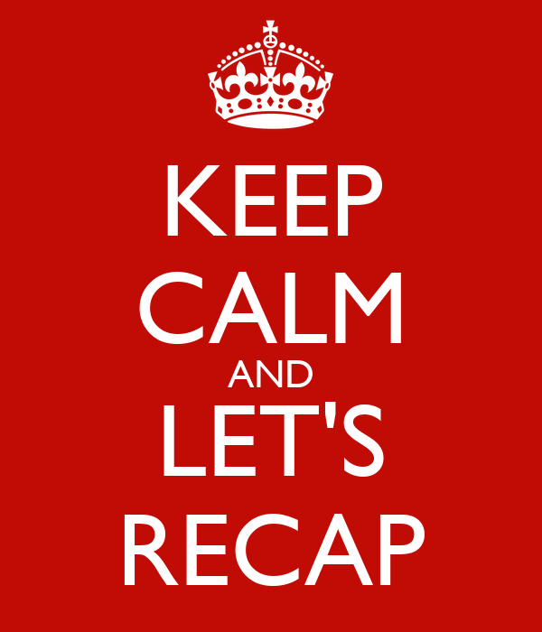 Keep Calm And Let S Recap Poster Eeee Keep Calm O Matic