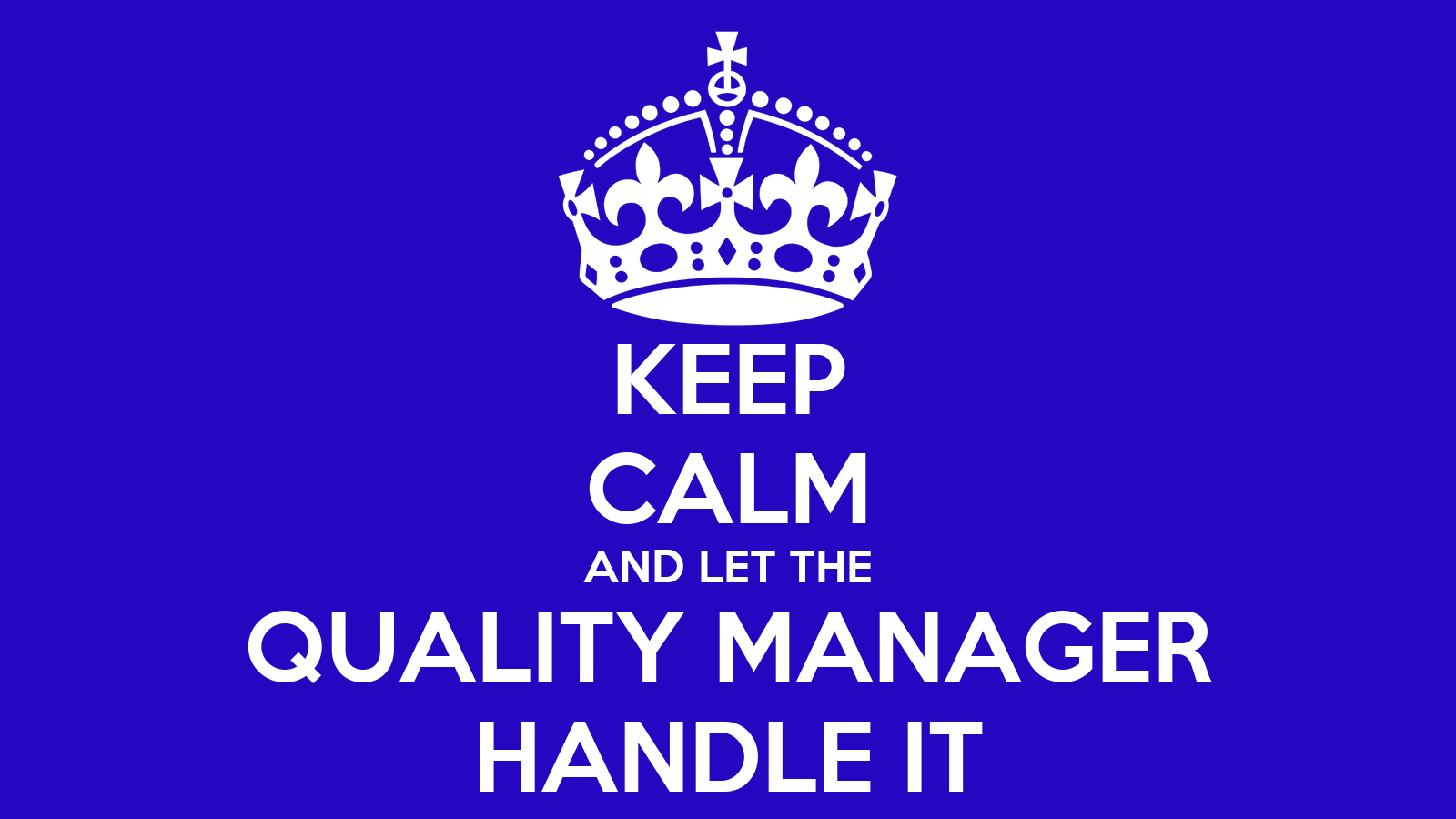 how to become a quality manager