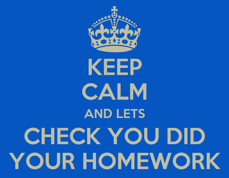 Check Homework A Simple Effective Homework Plan For