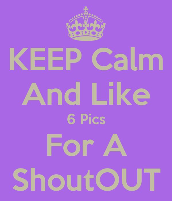 Keep calm and like 6 pics for a shoutout poster tiana keep calm o
