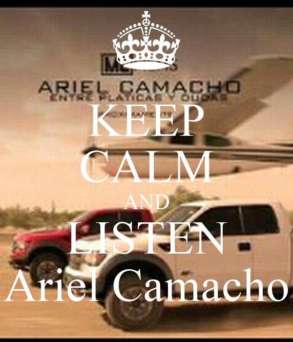 KEEP CALM AND LISTEN Ariel Camacho Poster | ramon | Keep Calm-o-Matic