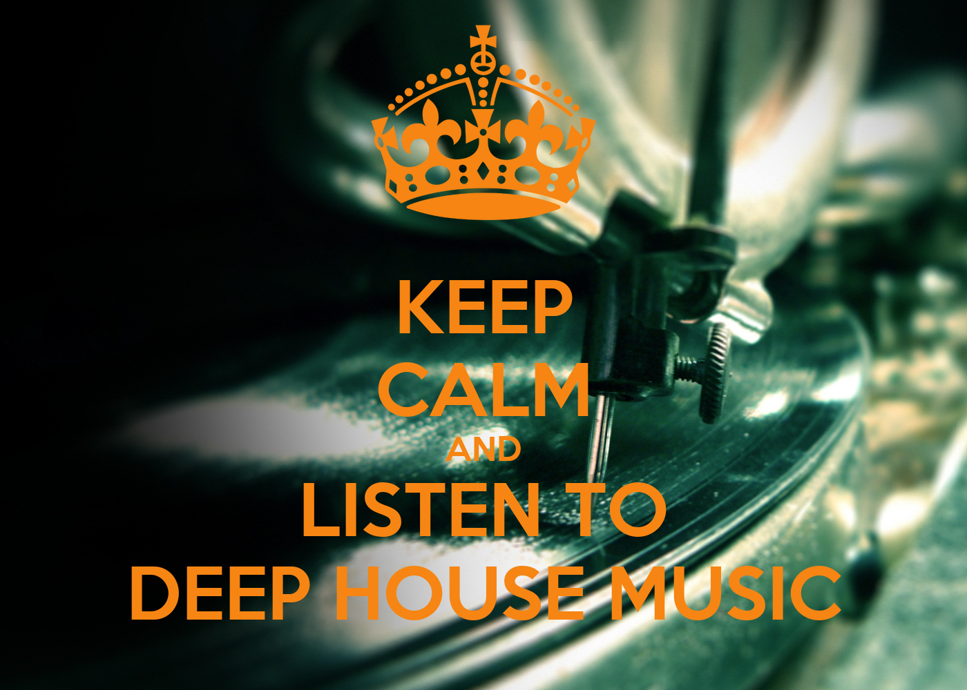 Keep calm and listen to deep house music poster cristian for Listen to house music