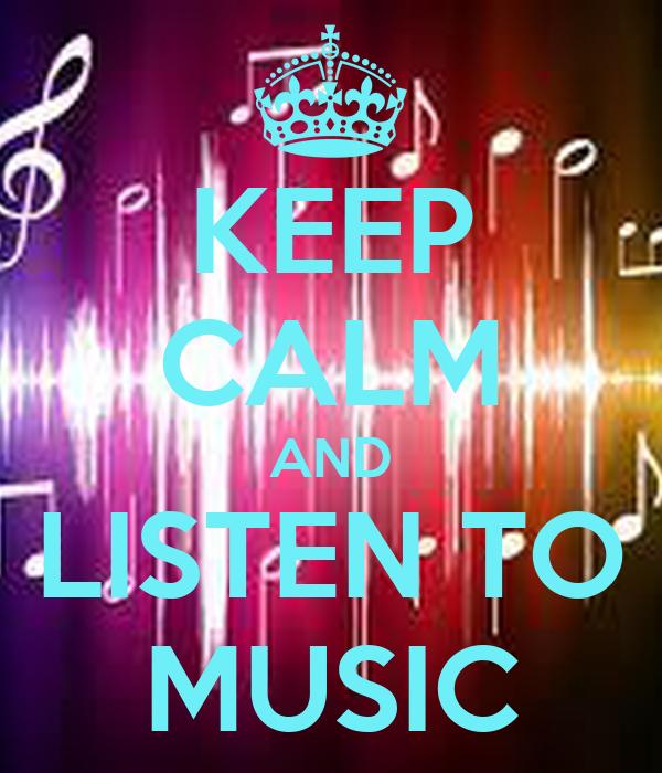 calm listen keep matic poster