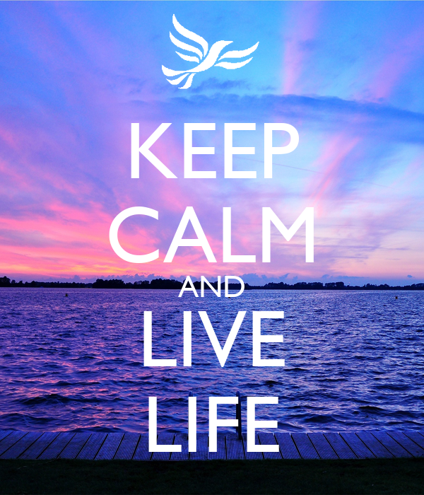 Keep calm and live life poster jaynehawkes keep calm o for Best place to buy posters in store