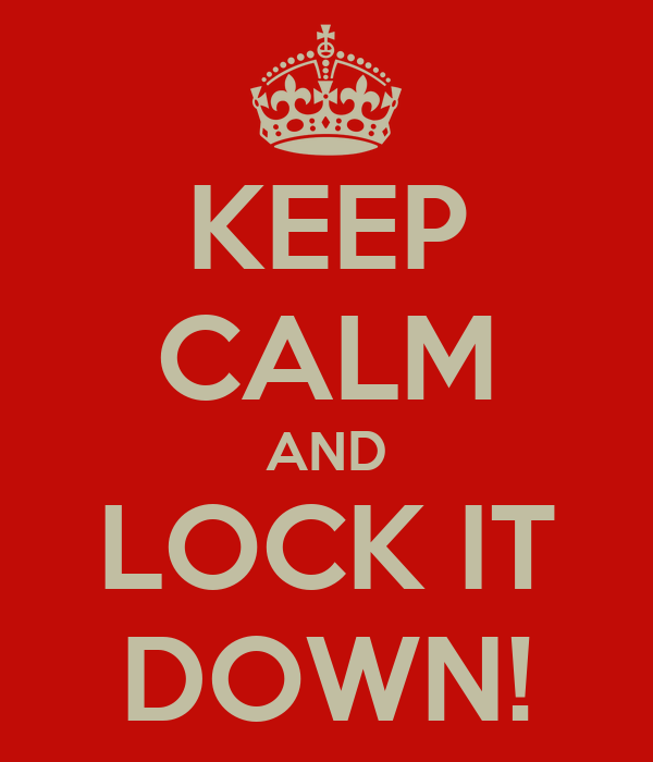 keep calm and lock it down poster nicole keep calm o matic. Black Bedroom Furniture Sets. Home Design Ideas