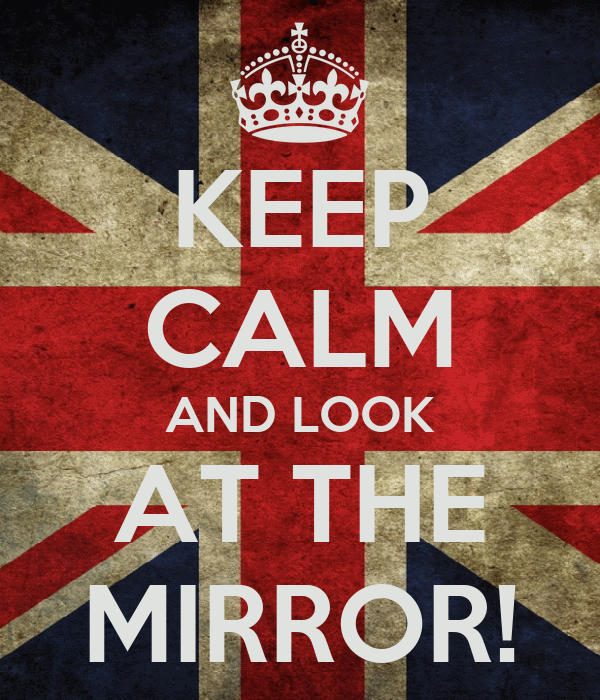 Keep calm and look at the mirror poster alexandra for Mirror 0 matic