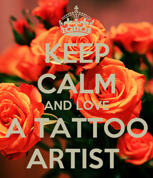 keep calm and love a tattoo artist keep calm and carry on image generator. Black Bedroom Furniture Sets. Home Design Ideas