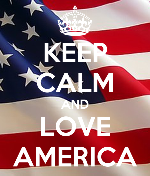 KEEP CALM AND LOVE AMERICA Poster | sanne