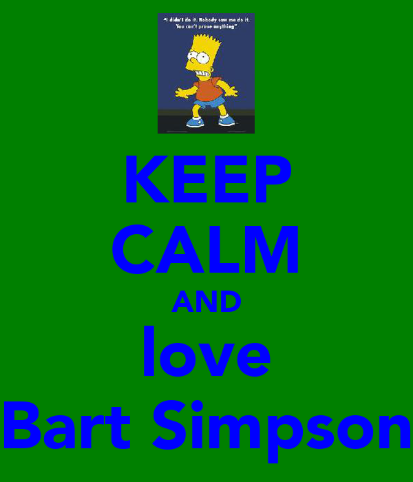 L Love U Bart U A Bby