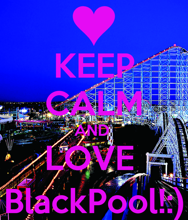 Keep Calm and Love Blackpool Keyring