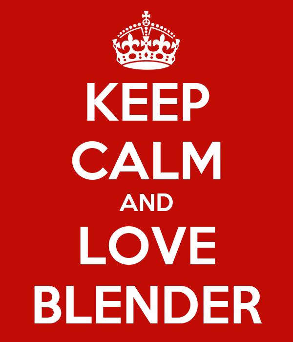 i love blender 3d