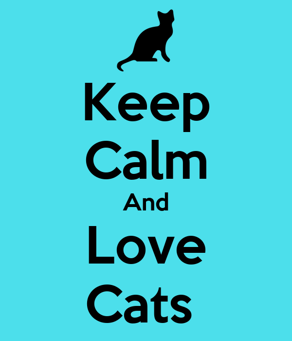 Keep Calm And Love Cats Poster | Finetty Fan | Keep Calm-o ...