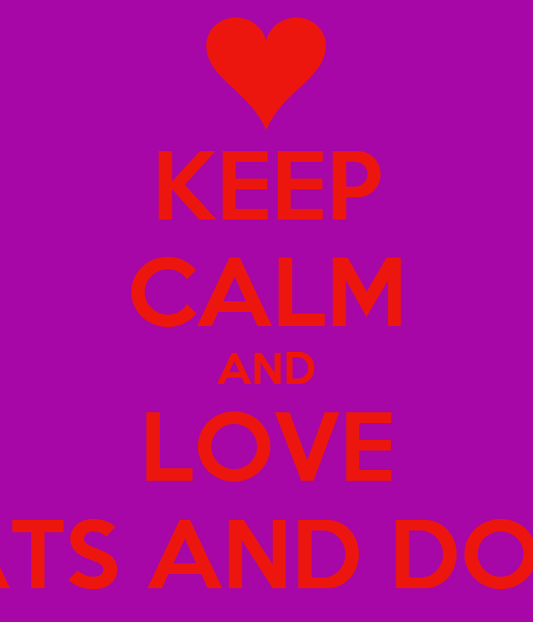 Keep Calm And Love Cats Poster Keep Calm And Love Cats And