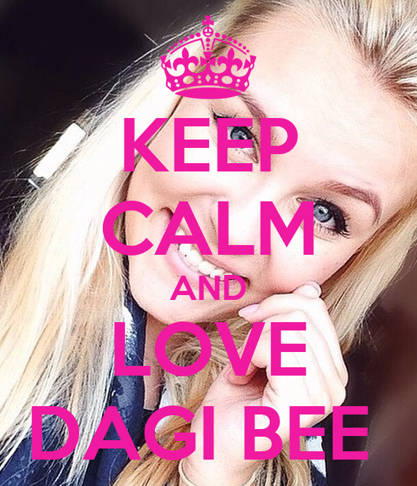 keep calm and love dagi bee poster daggi keep calm o matic. Black Bedroom Furniture Sets. Home Design Ideas
