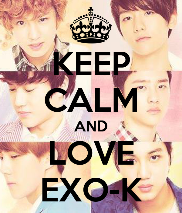 keep calm and love exo k keep calm and carry on image