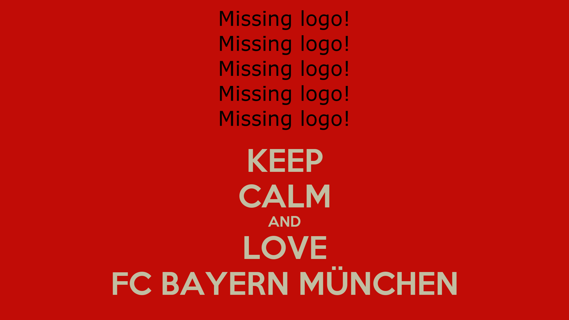 keep calm and love fc bayern m nchen poster blui keep calm o matic. Black Bedroom Furniture Sets. Home Design Ideas