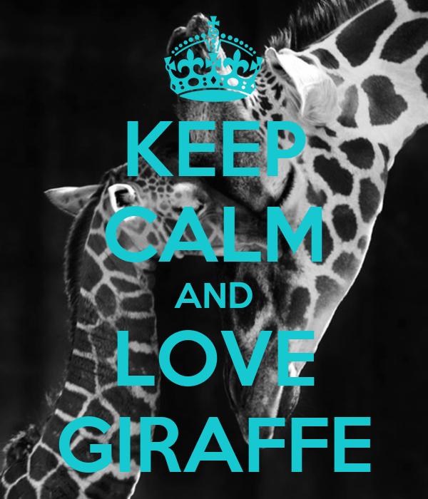 KEEP CALM AND LOVE GIRAFFE - KEEP - 257.8KB