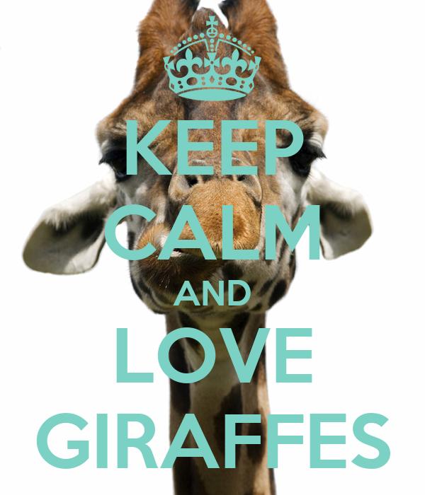 KEEP CALM AND LOVE GIRAFFES - - 275.6KB