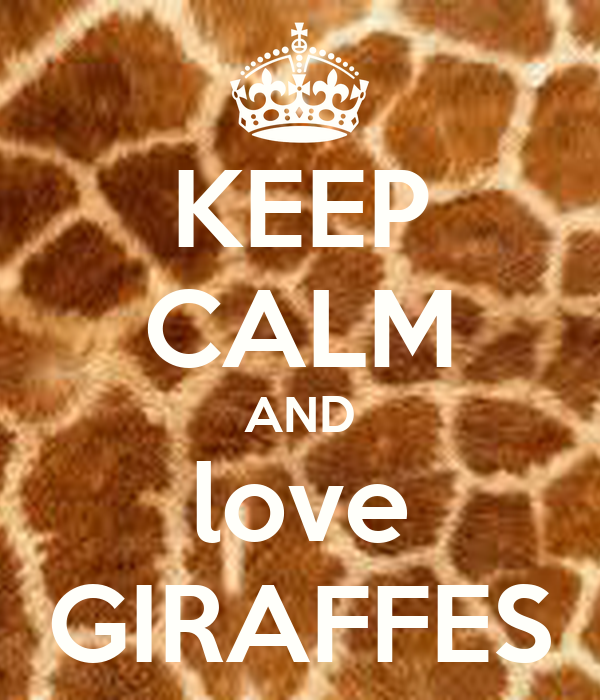 KEEP CALM AND love GIRAFFES Poster - 447.5KB