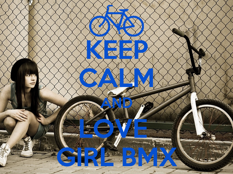 KEEP CALM AND LOVE GIRL BMX - KEEP CALM AND CARRY ON Image