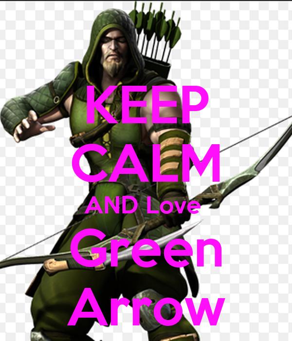 keep calm and love green arrow poster kionchan keep. Black Bedroom Furniture Sets. Home Design Ideas