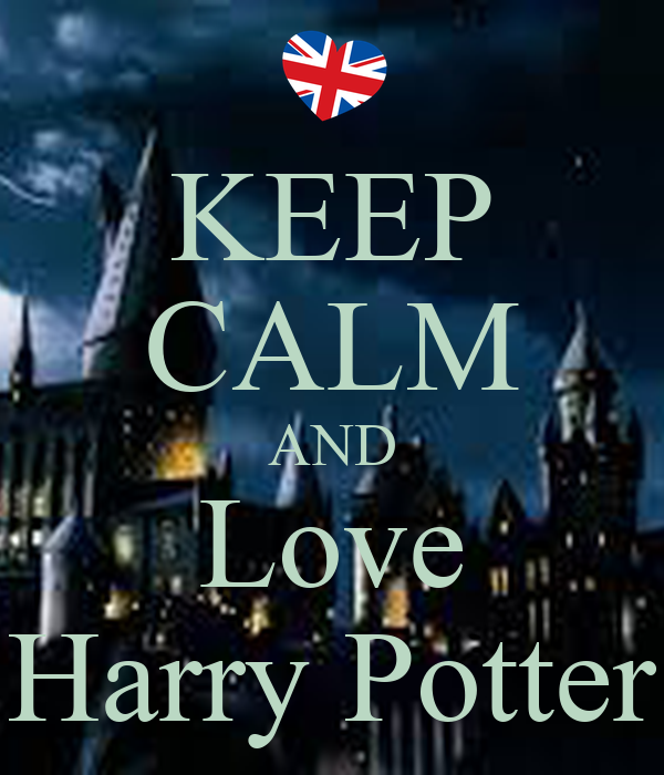 keep calm and love harry potter poster rvl7 keep calm