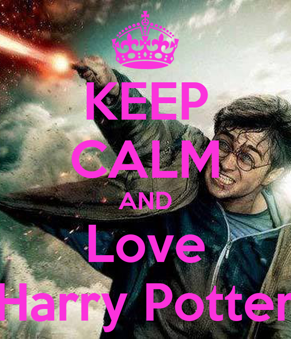 keep calm and love harry potter poster asia keep calm