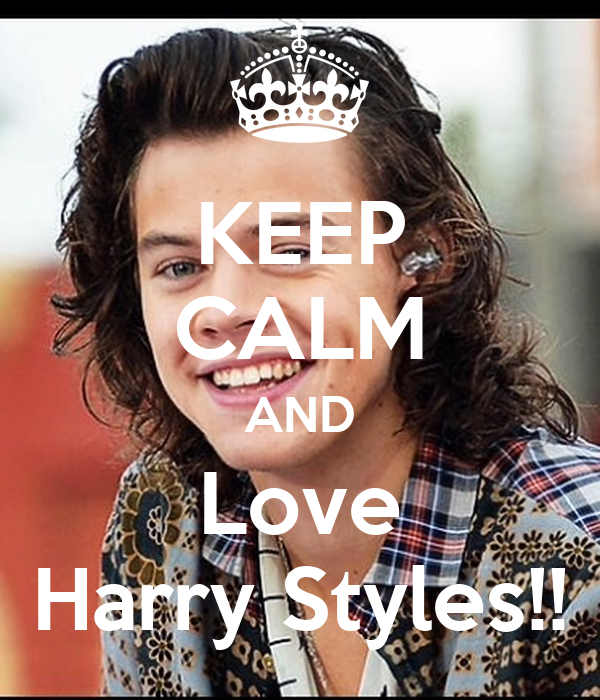 keep calm and love harry styles poster labroswell