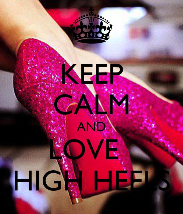 keep calm and high heels poster mignon keep calm