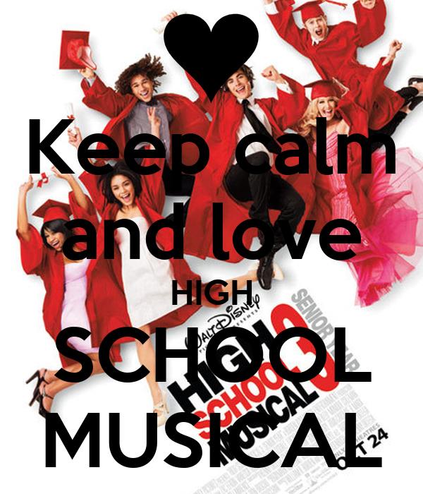 High School Love on Poster Keep Calm And Love High School