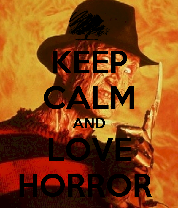 Citaten Love Horor : Keep calm and love horror carry on image