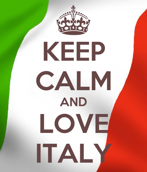 KEEP CALM AND LOVE ITALY Poster  italy  Keep Calm-o-Matic