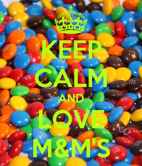 Keep calm and love m amp m s poster bambou keep calm o matic